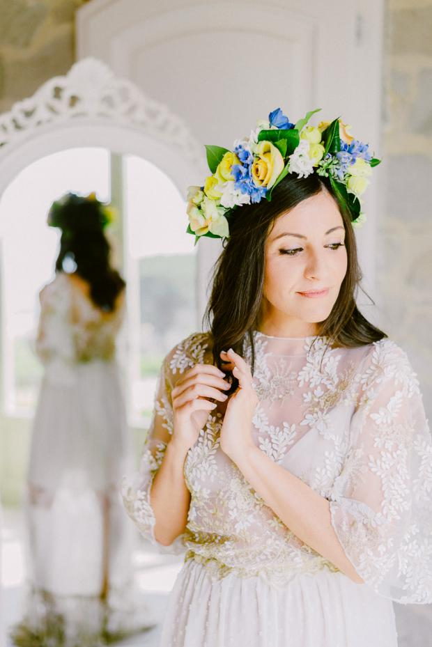 Bridal flower crown - Italy wedding