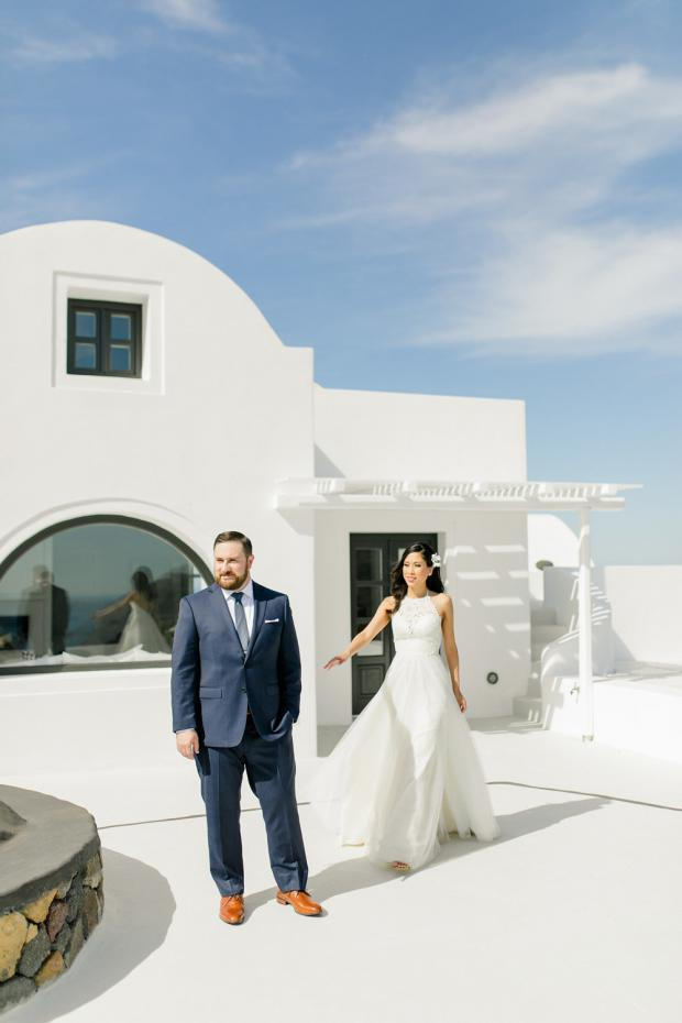 First look- Wedding in Greece