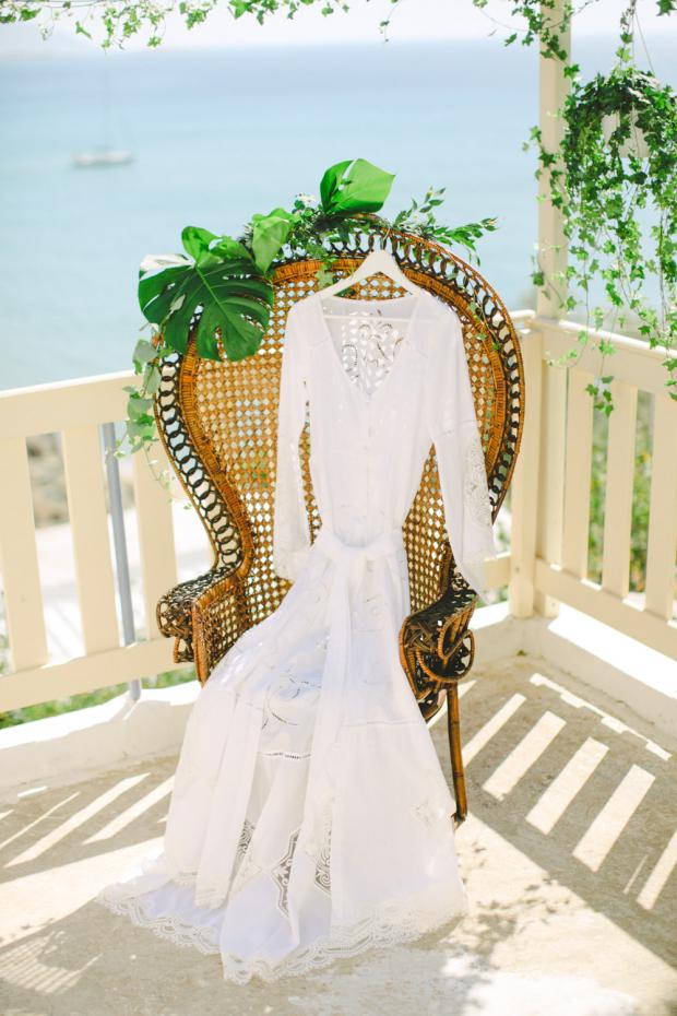 Bohemian wedding dress- Nidodileda