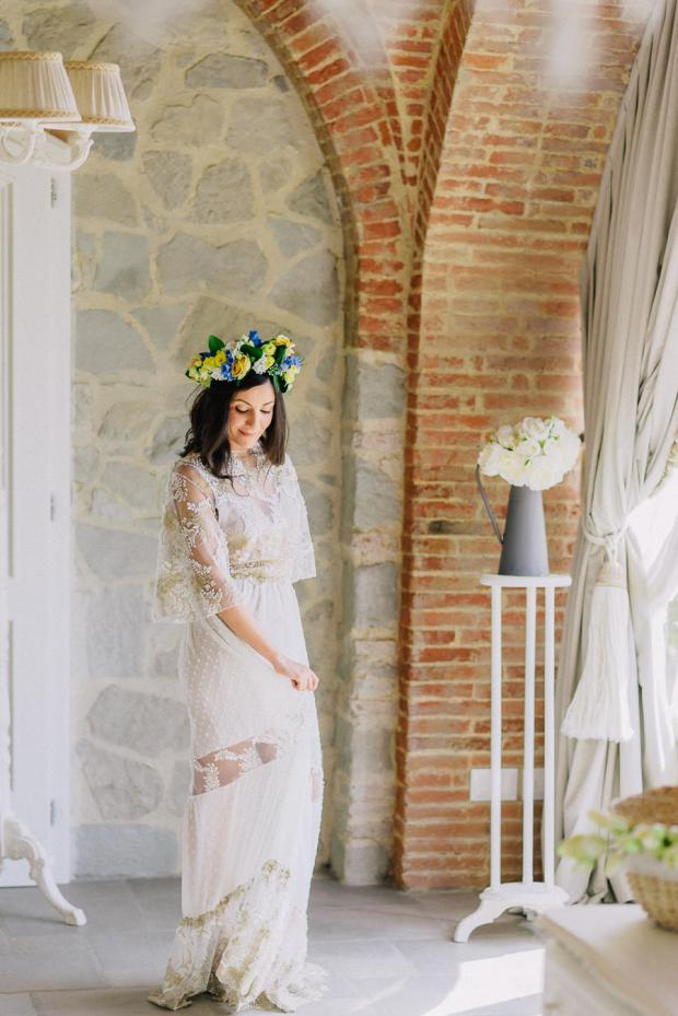 Bohemian bride-Italy wedding