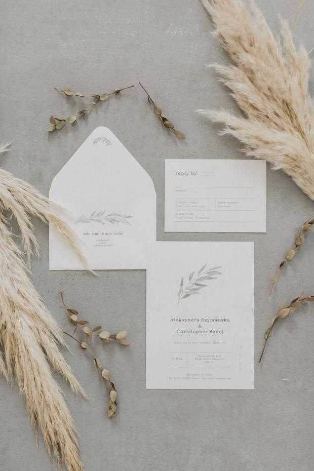 Wedding Stationery-pampas