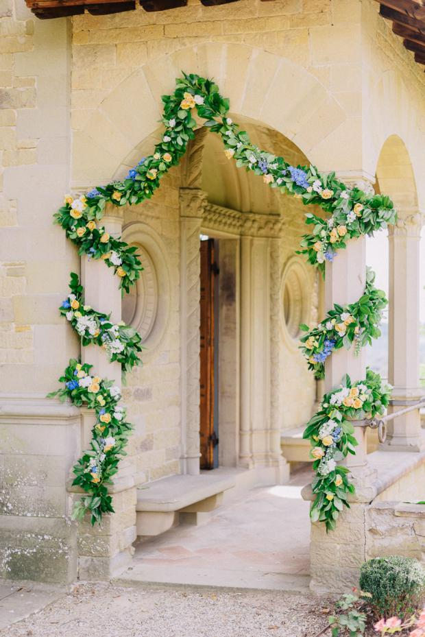Wedding ceremony decoration- Tuscany wedding
