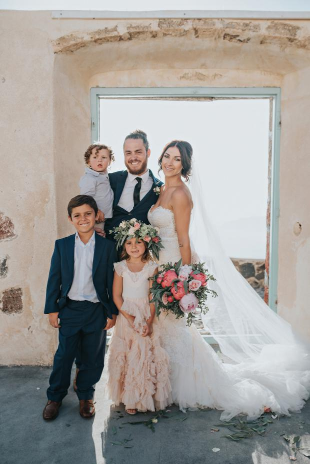 Wedding family- Santorini wedding