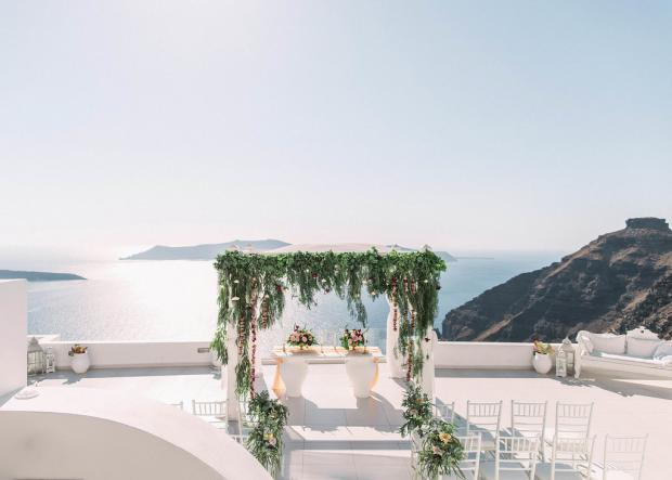 Autumn wedding in Greece