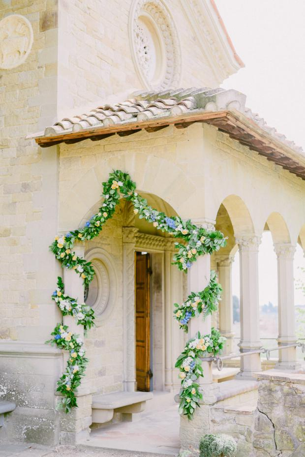 Wedding ceremony in Tuscany, Italy