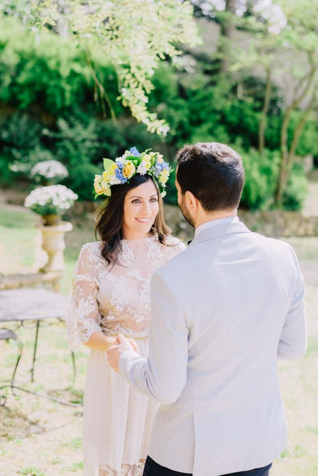 First Look - Wedding in Italy