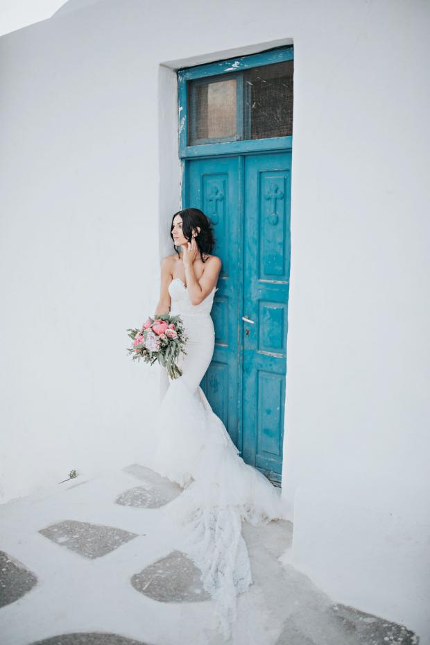 Beautiful Santorini bride