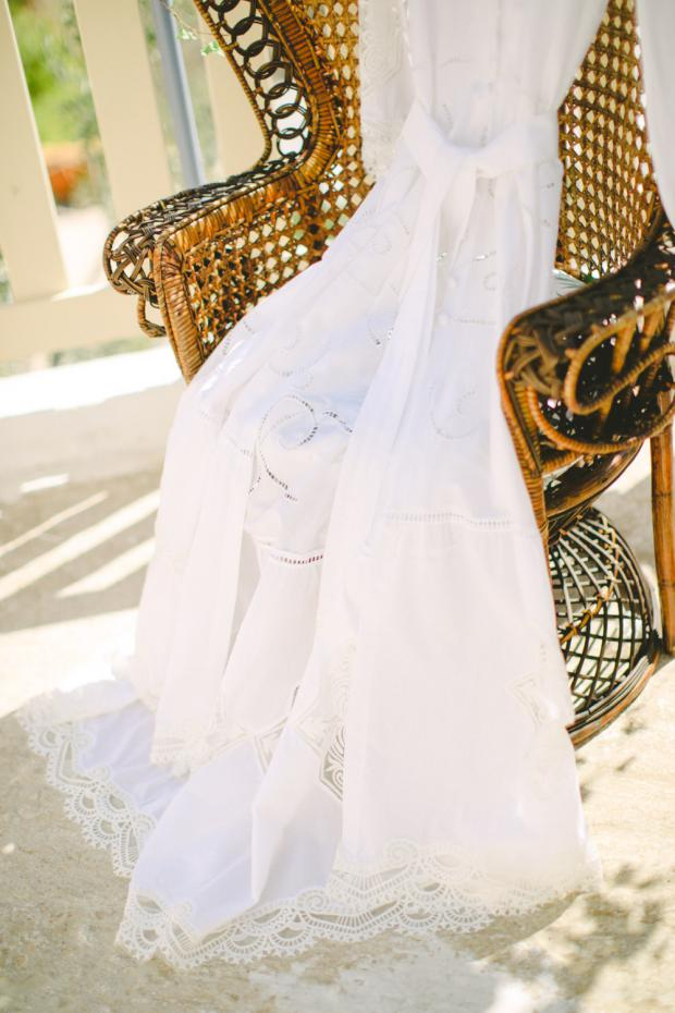 Bohemian wedding dress- Nidodileda