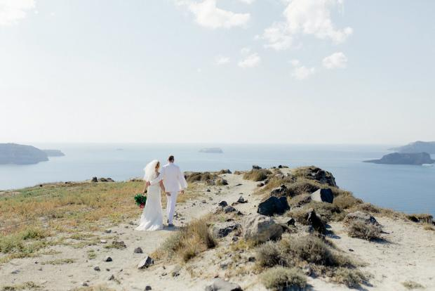 Wedding in Santorini, Greece