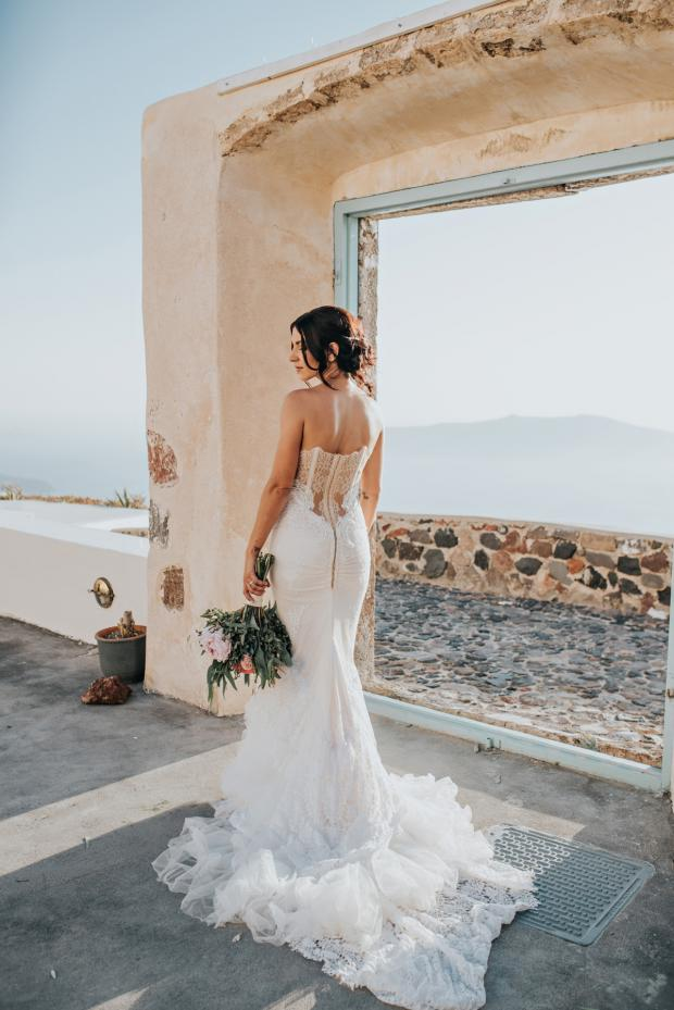 Wedding dress - Santorini wedding