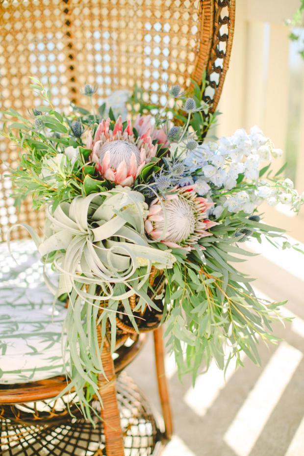 Protea & air plant bouquet