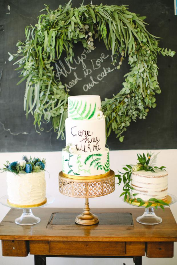 Dessert table- botanical wedding