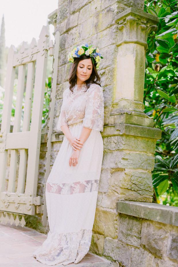 Bohemian bride in Tuscany- Italy