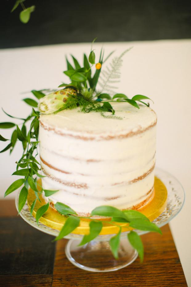 Botanical semi-naked cake