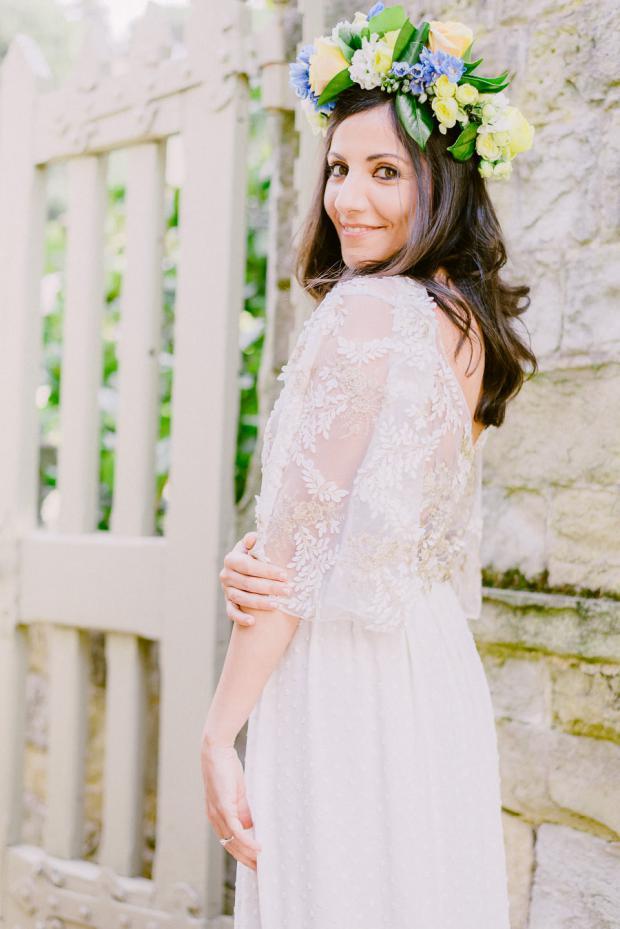 Bridal flower crown- Italy wedding