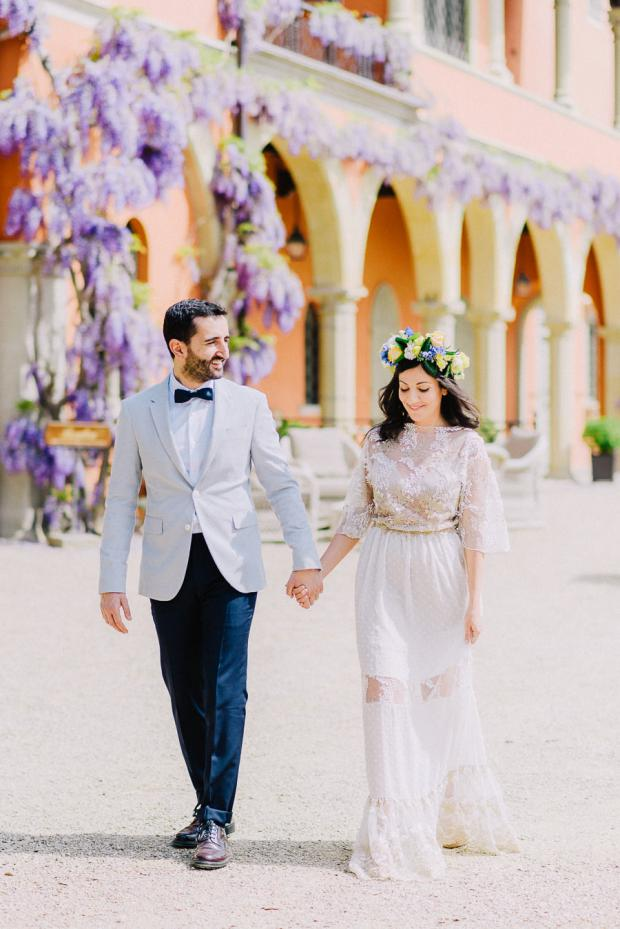 Spring wedding in Italy- Wisteria