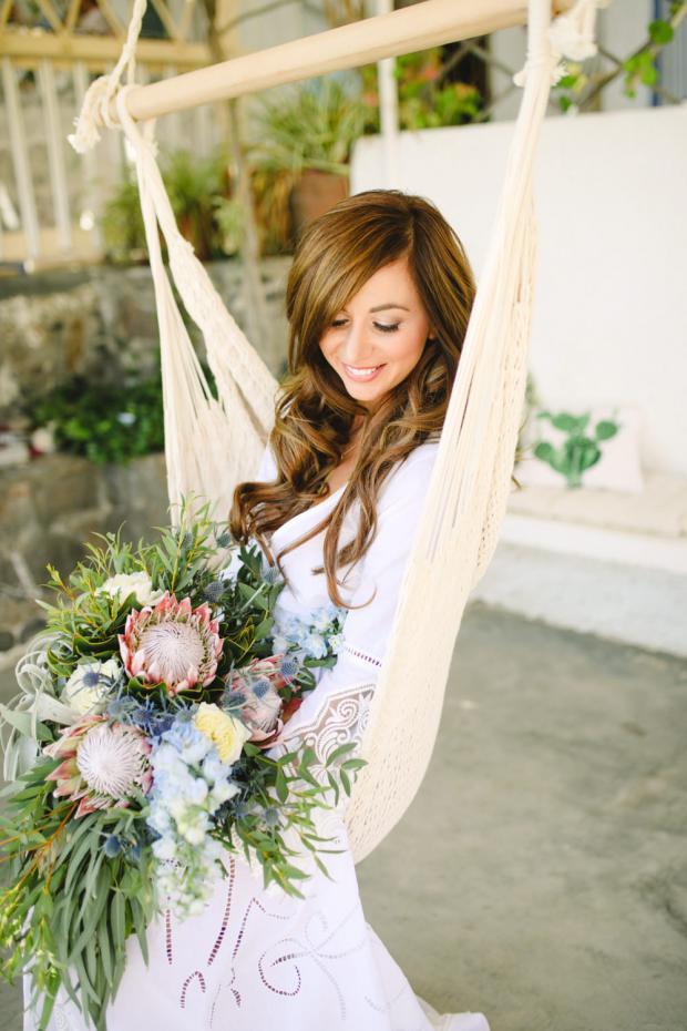Bohemian wedding - Greek islands