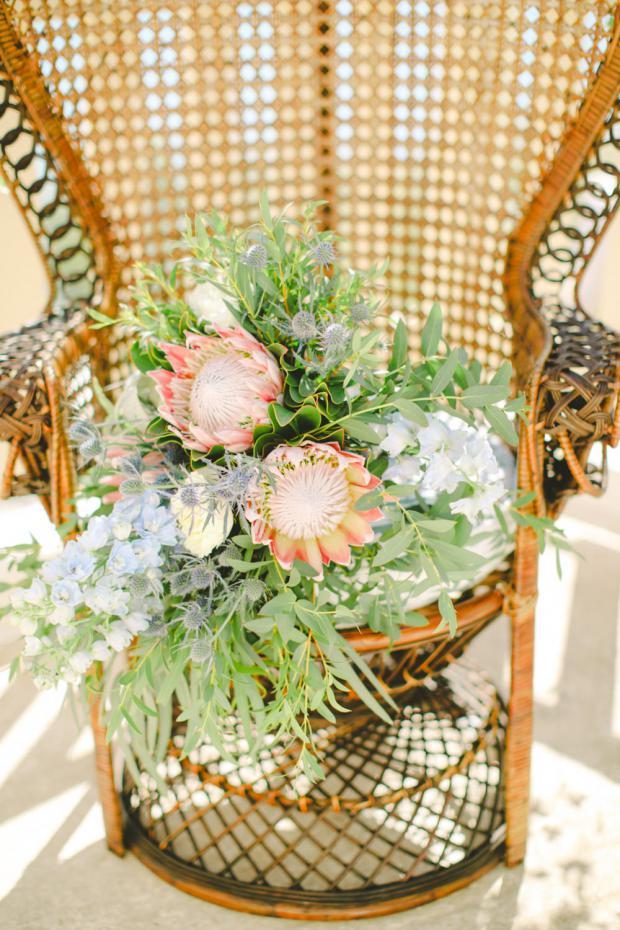 Protea & air plant bouquet