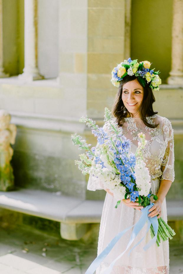 Delphinium bridal bouquet- Tuscany wedding