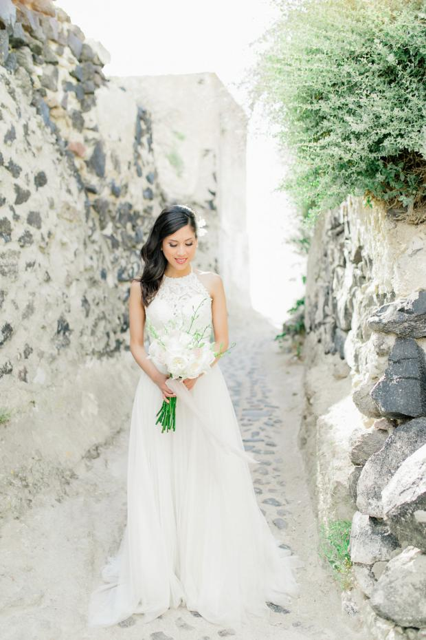 Bridal bouquet - Destination wedding in Greece