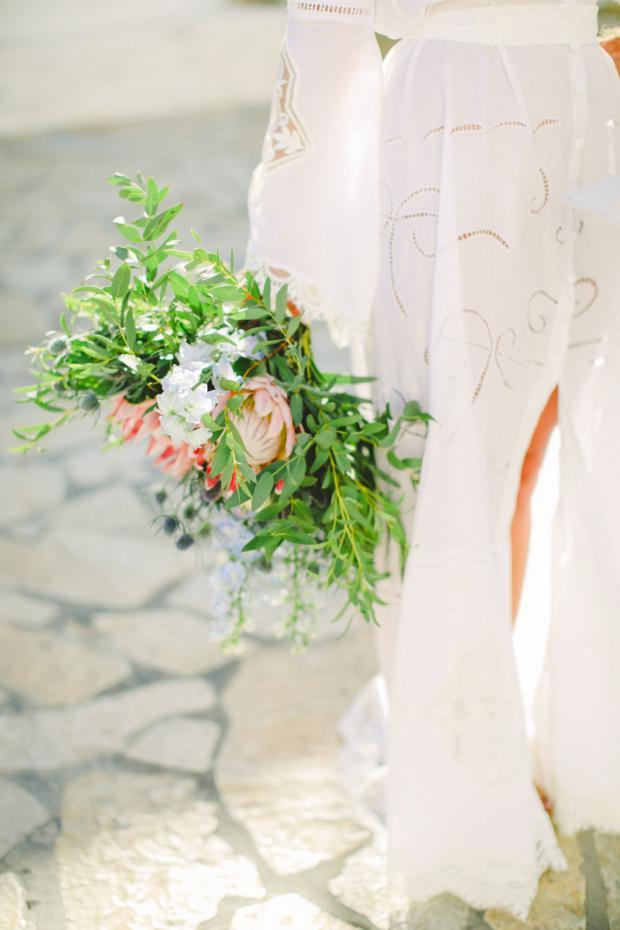 Bohemian wedding dress by Nidodileda