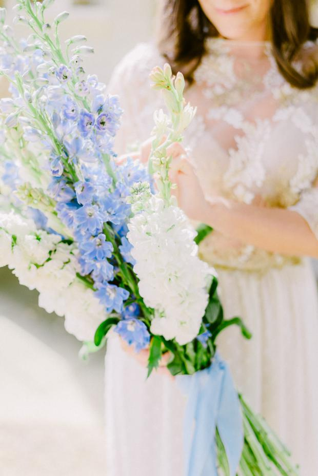 Delphinium bridal bouquet- Tuscany wedding