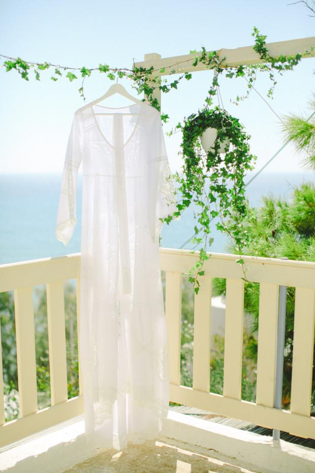 Bohemian wedding dress- Botanical wedding in Greece