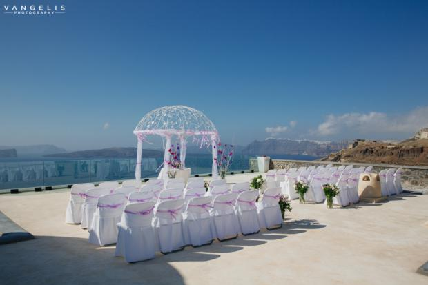 Wedding in Santorini- ceremony venue