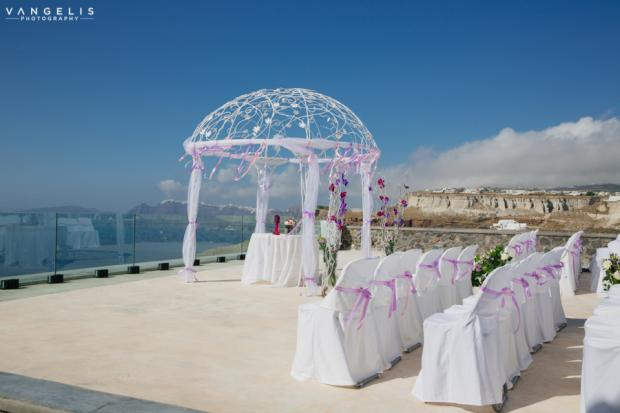 Wedding in Santorini-wedding ceremony
