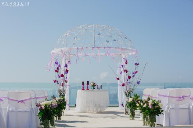 Santorini wedding-Purple wedding