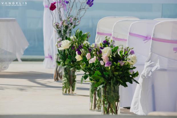 Santorini wedding-wedding aisle