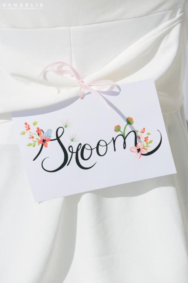 Wedding in Santorini-wedding sign