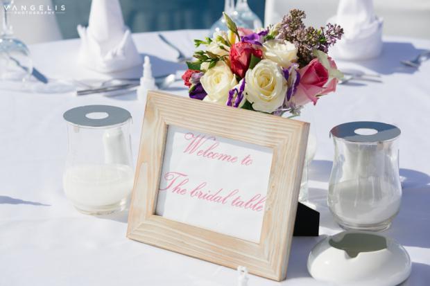 Santorini Wedding- Bridal table