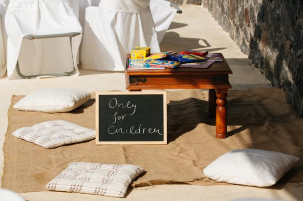 Wedding in Santorini- children's area
