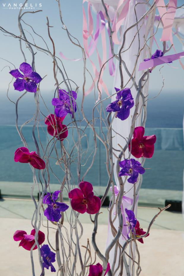 Wedding in Santorini- Radiant orchid