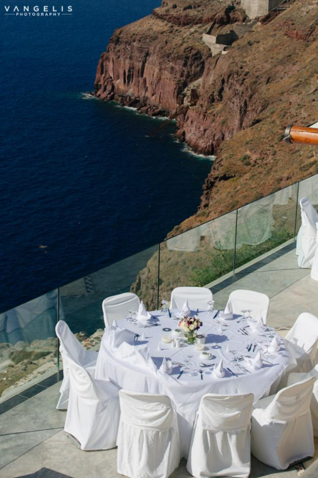 Santorini Wedding- private villa wedding
