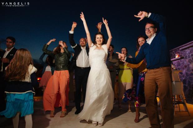 Wedding in Santorini-wedding party