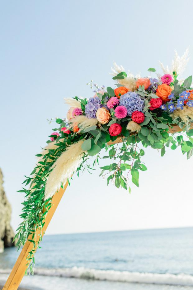 Colourful wedding in Greece