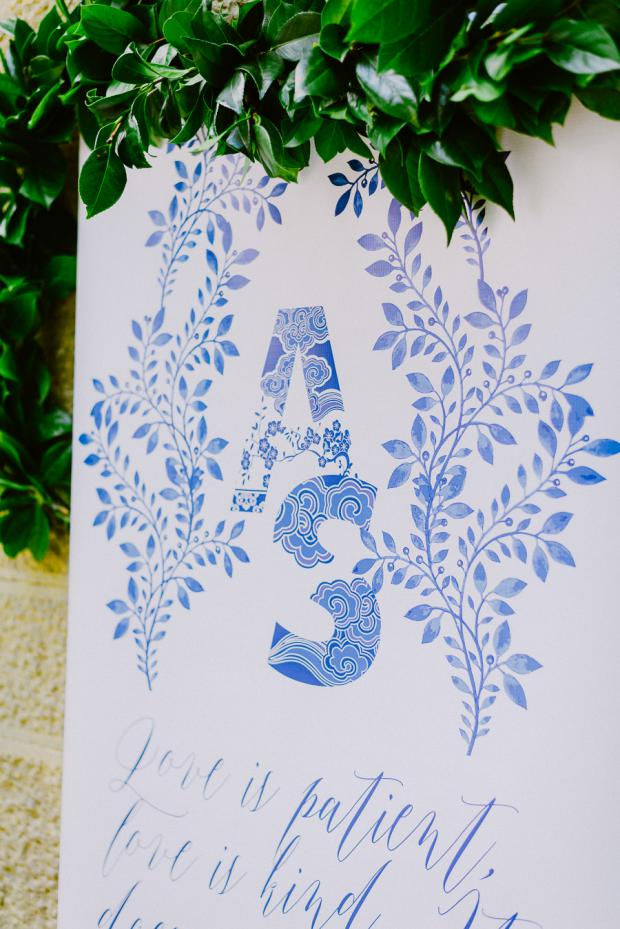 Wedding logo- calligraphy sign