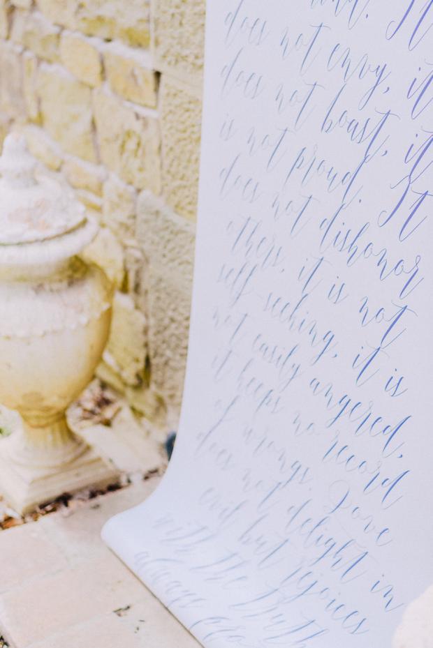 Calligraphy sign- Tuscany wedding