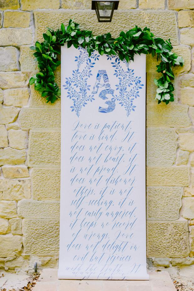 The Corinthians calligraphy sign