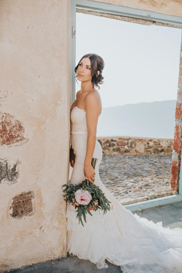 Beautiful bride- Santorini wedding