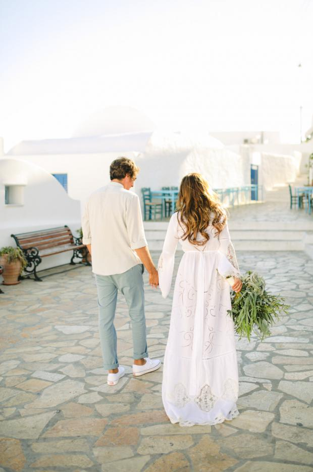 Bohemian laid back wedding in Greece