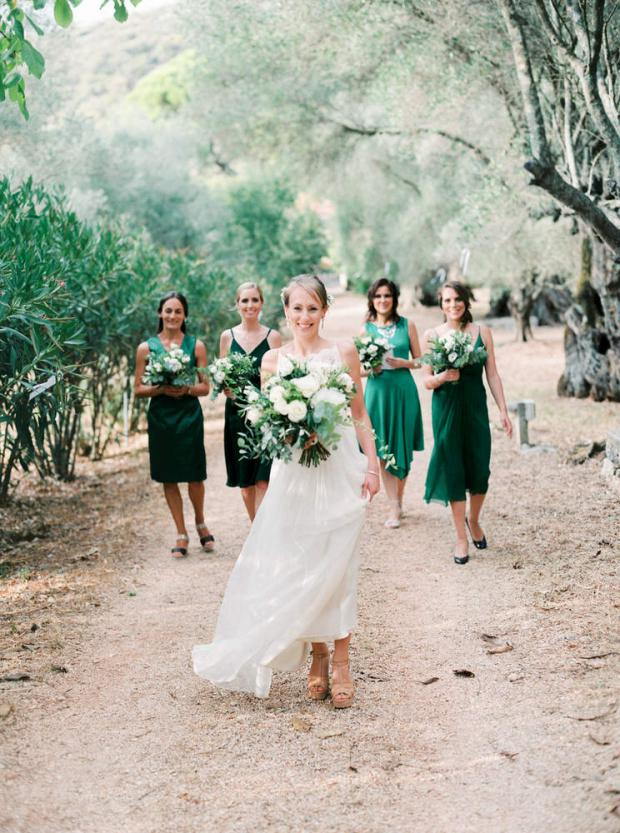 Greenery wedding in a Greece location looking like Tuscany