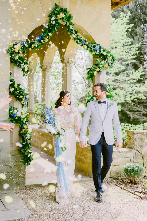 Bohemian wedding in a Tuscany Villa, Italy