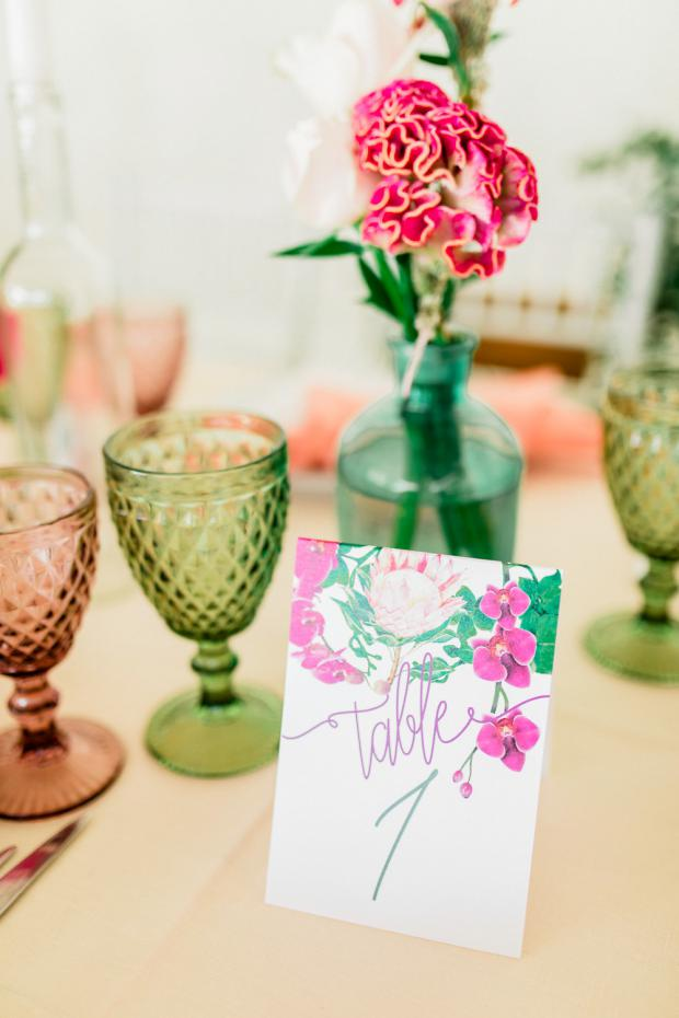 King protea table number- Stationery