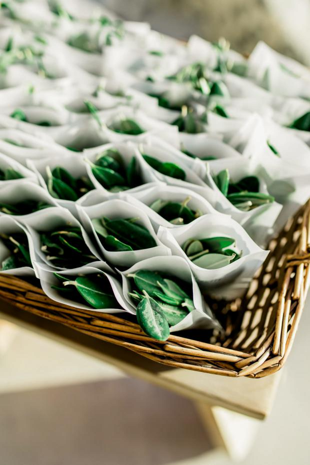 Olive leaves confetti