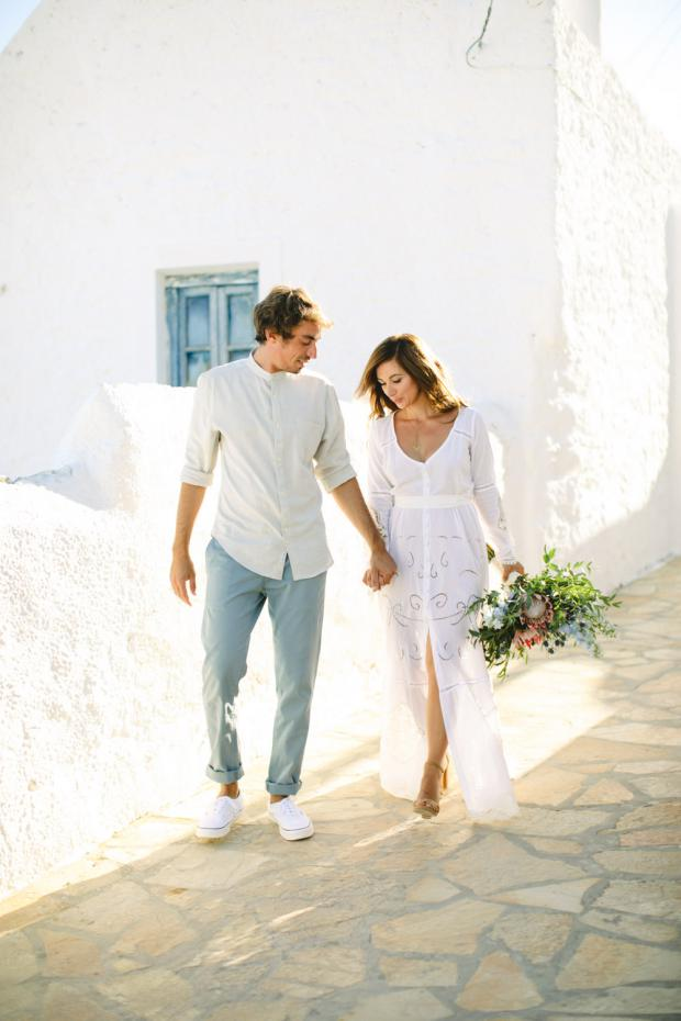 Destination bohemian wedding in Greece