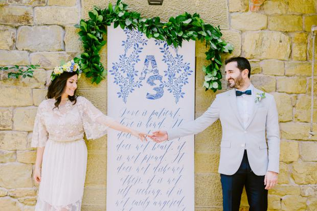 Calligraphy sign - Wedding in Tuscany