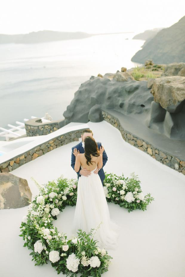 Modern wedding ceremony in Greece